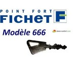 Reproduction de clé Fichet de type 666 FICHET
