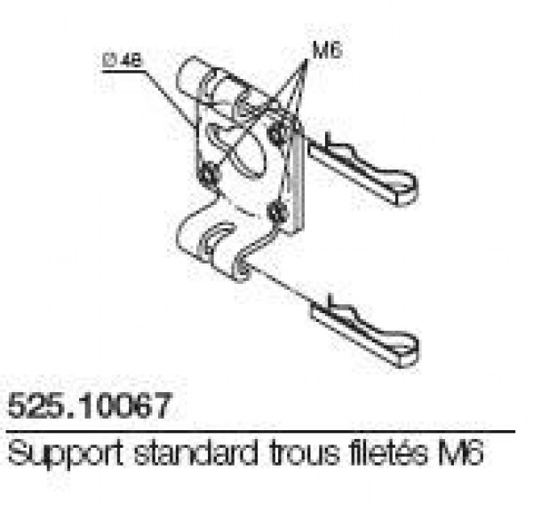 Support standard trous filetés M6 NICE-NI52510067-Nice
