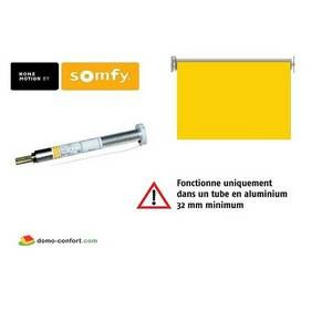 Moteur seul ROLL UP WIREFREE RTS 1/27 pour store rouleau intérieur Somfy -SY1002154-Somfy