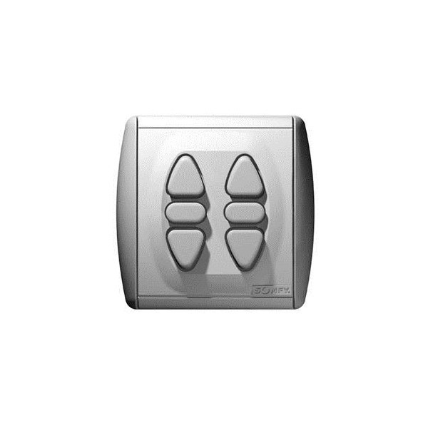 Inverseur intérieur filaire position momentanée INIS DUO INTEO Somfy-SY1800027-Somfy