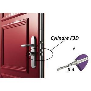 Cylindre monobloc F3D, chromé, 3* compatible FORSTYL HiS, SPHERIS HiS-XP FICHET-FI75050730-