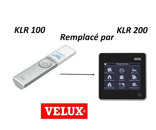 t l commande radio programmable klr 100 velux remplace par vegc3150klr200 11dot 001471d. Black Bedroom Furniture Sets. Home Design Ideas
