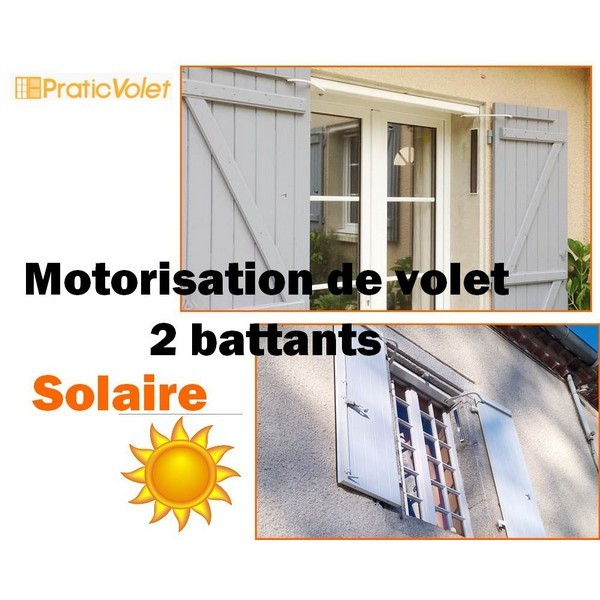 motorisation solaire volet battant radio design 2 vantaux. Black Bedroom Furniture Sets. Home Design Ideas
