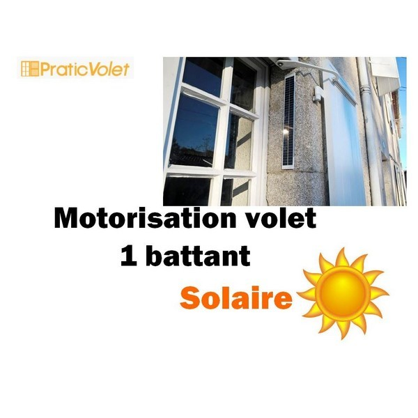 motorisation solaire volet battant radio design 1 vantail. Black Bedroom Furniture Sets. Home Design Ideas
