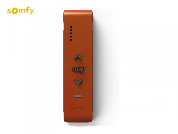 Télécommande murale SITUO IO ORANGE METAL - 5 canaux - Orange SOMFY-SY1811299-Somfy