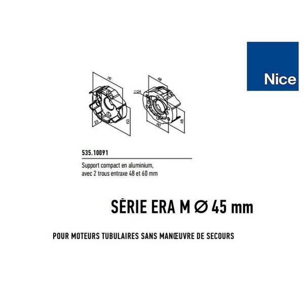 Support compact alu 2 trous entraxe 48 et 60 mm NICE-NI53510091-Nice