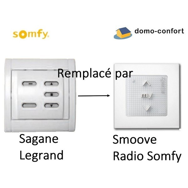 Commande murale RTS série Sagane REMPLACE PAR SY1810880 somfy-SY1810451-Somfy