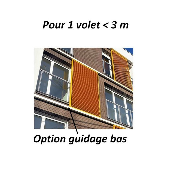 Option guidage au sol pour 1 volet coulissant <3 m gamme Orato SOMFY-SY9019484-Somfy