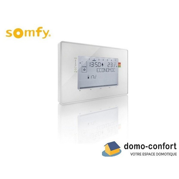 thermostat programmable filaire contact sec compatible tahoma somfy 2401243. Black Bedroom Furniture Sets. Home Design Ideas