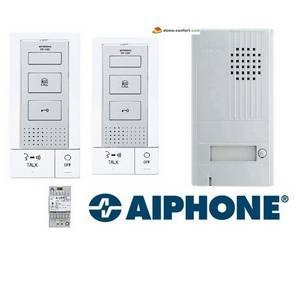 Kit portier audio 2 fils intégrales, mains libres, 2 postes int. DB2INT AIPHONE-AIDB2INT-