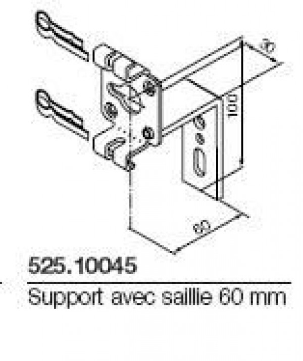 Support série NEO diam 45mm avec saillie 60mm NICE-NI52510045-Nice