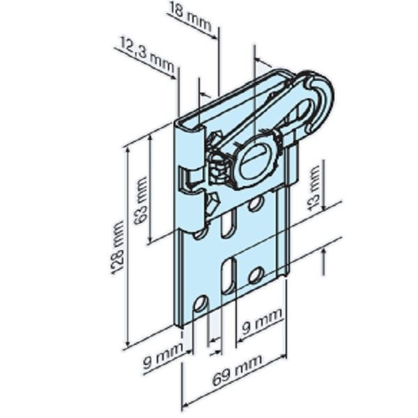 Support mural universel P/R - 3/20, moteur tubulaire volet roulant R7-R40 -BECKER- -BC49302000050-BECKER