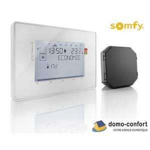 Thermostat programmable sans fil - pour gérer 4 zones - compatible TaHoma SOMFY-SY2401244-