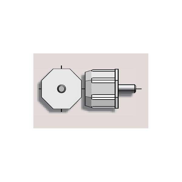 Embout tube octo 40 tourillon ø 8 SOMFY-SY9137018-Somfy