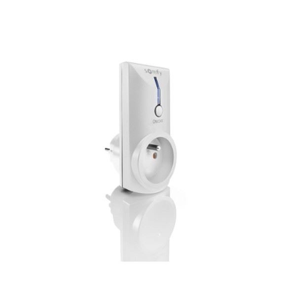 Récepteur prise intérieur RTS ON/OFF - Compatible TaHoma - SOMFY-SY2401363-Somfy