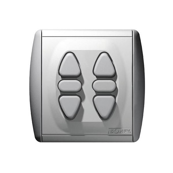 Commande murale INIS DUO orientation des lames + griffes Somfy-SY1800005-Somfy
