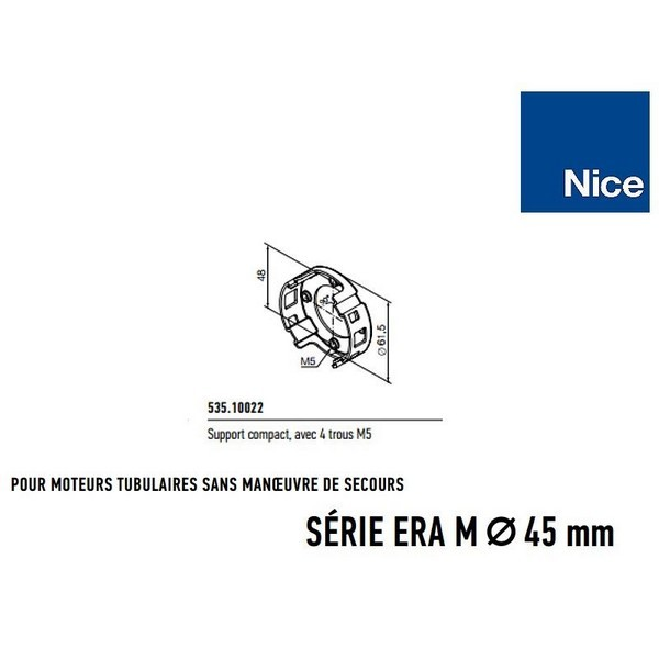 Support compact avec 4 trous M5 NICE-NI53510022-Nice