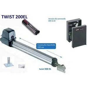 Kit motorisation de portail 2 battants (2,5m) twist 200EL course 550mm  Sommer-SO3230V000-