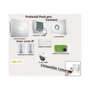 Kit Alarme Protexial RTS/IO Pack Pro Connect, compatible TaHoma, SOMFYremplacé par SY1875143-SY1875118-Somfy