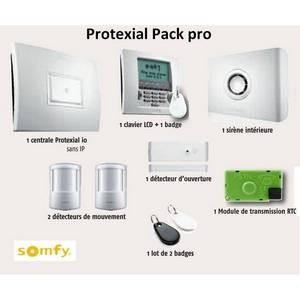 Kit Alarme Protexial RTS/IO Pack Pro, non compatible TaHoma, SOMFY-SY1875117-Somfy