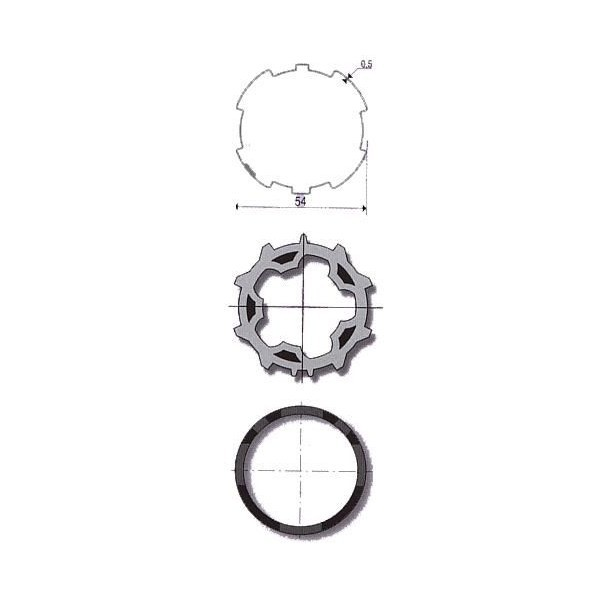 Roue + couronne ZF54 unitaire somfy-SY9001465-Somfy