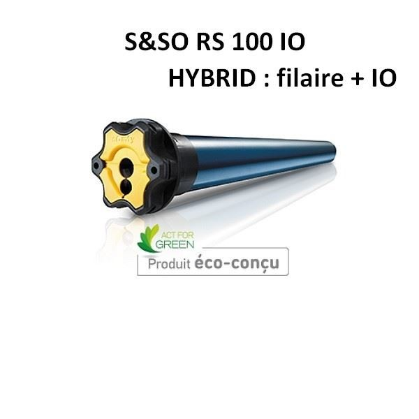 Moteur de volet roulant S&SO RS100 IO HYBRIB - filaire + IO - 20/17 - SOMFY --SY1033113-Somfy
