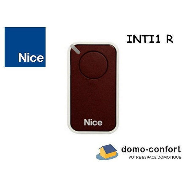 Télécommande Inti 1 canal, couleur ROUGE 433,92MHz NICE-NIINTI1R-Nice