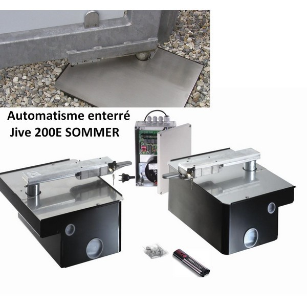 Kit automatisme enterré portail 2 battants (2m, 200Kg) jive200E SOMMER.-SO3268V000-Sommer