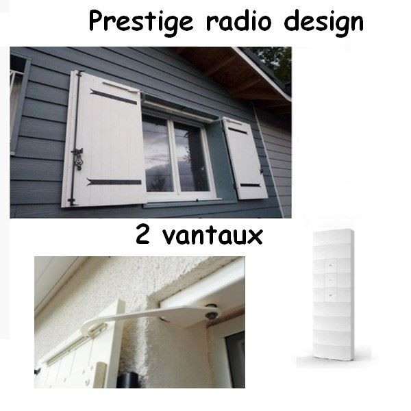 Kit de motorisation RADIO pour volets 2 battants PRESTIGE RADIO DESIGN - PRATIC VOLET --PVPRESTRA2V-Pratic volet